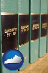 kentucky map icon and bankruptcy law books