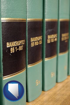 bankruptcy law books - with Nevada icon